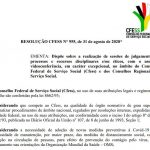 RESOLUÇÃO CFESS N° 955, de 31 de agosto de 2020