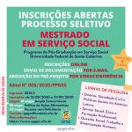 PROCESSO SELETIVO 2021 PPGSS/UFSC – Editais Retificados
