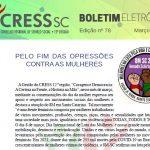 Boletim Eletrônico nº 78 – Pelo Fim das Opressões Contra as Mulheres
