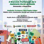 """Evento online! Região Norte e Vale do Itapocu e Planalto Norte – Roda de Conversa """"O Exercício Profissional da/o Assistente Social na Saúde"""""""