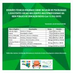 Amanhã (03/08) Oeste – FECAM e GT Estadual Serviço Social e Psicologia na Educação promovem reuniões regionais sobre a inclusão de Psicólogas/os e Assistentes Sociais na rede pública de educação básica
